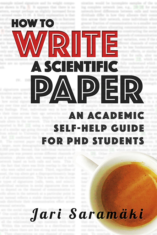 "Book cover of ""How to Write a Scientific Paper"""
